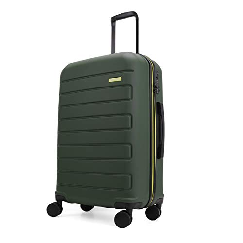 GinzaTravel Hardside Spinner, Carry-On, Wear-resistant, scratch-resistant Suitcase Luggage with Wheels (28-inch, Dark green)