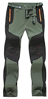 TBMPOY Men s Water Resistant Camping Hunting Tactical Pants Fishing Casual Sports Pants Green,US 36