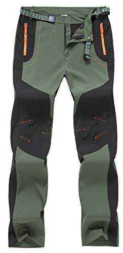TBMPOY Men's Water Resistant Camping Hunting Tactical Pants Fishing Casual Sports Pants(Green,US 36)