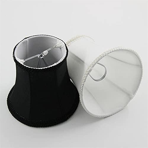 IVNGRI Dia 12. 5 cm / 4,92 Pulgadas Mini lámpara de Forma Moderna, Blanco/Negro Color Classic Chandeliers Lámpara Siguas, Clip en (Color : Black)