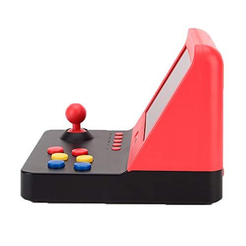 HLONGG Mini-Konsole von Grand Arcade Game On Screen Farbe HD 7 Zoll Von Taking Charge In Der HDMI-Ausgang mit 2 Griffen Konsole Videospiel Retro Wiederaufladbare,Rot