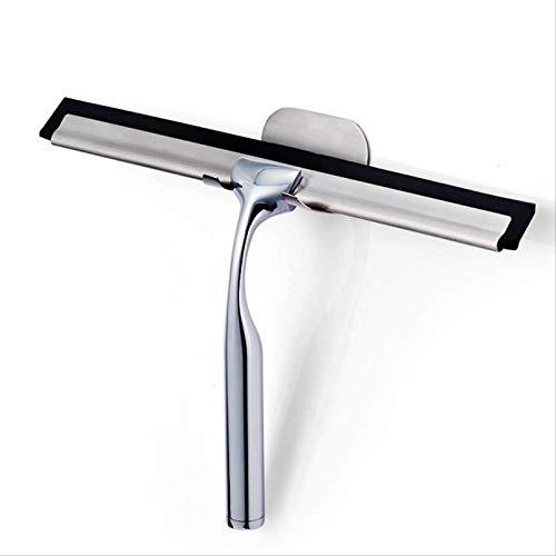 AOSSWEY Duschabzieher aus Edelstahl, mit Saugnapf-Haken, kein Bohren, für Duschtüren/Fenster/Badezimmer/Auto-Glas/Fliesen und Spiegelreinigung (25,4 cm)