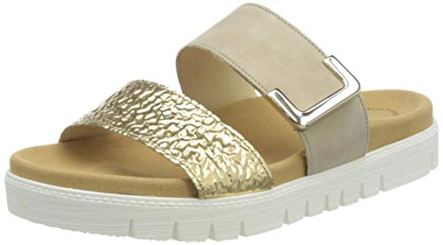 Gabor Shoes Gabor Jollys, Mules Femme, Multicolore (Oro/Leinen 62), 41 EU