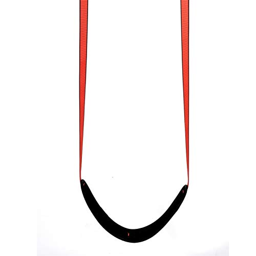 Columpio Poliéster Tejido sofoco para niños, Silla Colgante cómoda y Ajustable, fácil de Instalar y fácil de Transportar. (Color : Red)