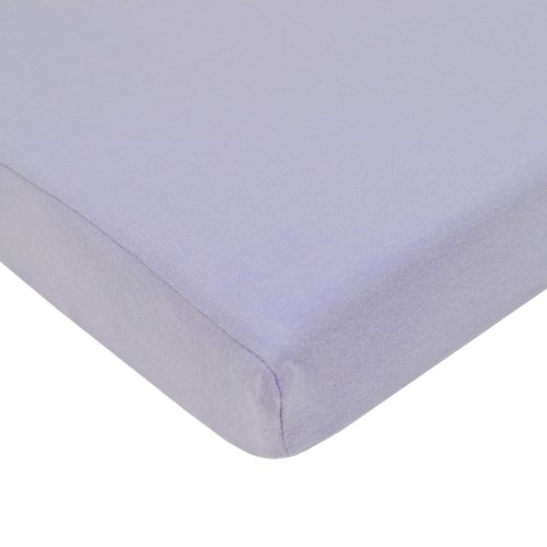 American Baby Company Supreme 100% Natural Cotton Jersey Knit Fitted Crib Sheet for Standard Crib and Toddler Mattresses, Lavender, Soft Breathable, for Girls