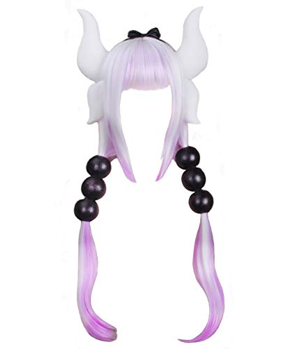 Ainiel Women's Anime Cosplay Wigs with Accessories Headband Tails for Halloween Cosplay