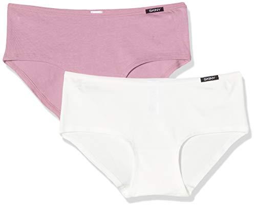 Skiny Damen Panty 2er Pack Advantage Cotton Panties, Mehrfarbig (Orchid Selection 3105), (Herstellergröße:38)
