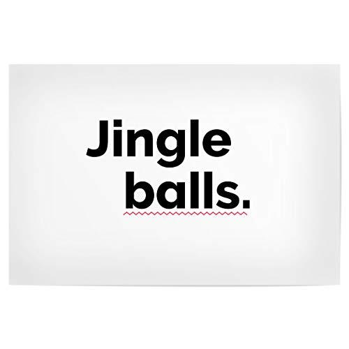 artboxONE Poster 45x30 cm Typografie Jingle Balls - Bild weihnachte adventskalender Balls