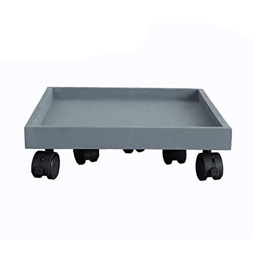 MHBGX Multifunction Portable Hand Trucks,Trolleyplastic Dolly Transport Roller Dollies Plastic Plates Movable Base Swiveable Casters with Brake 25Kg Heavy Duty, 13 Sizes,Gray,20X20Cm