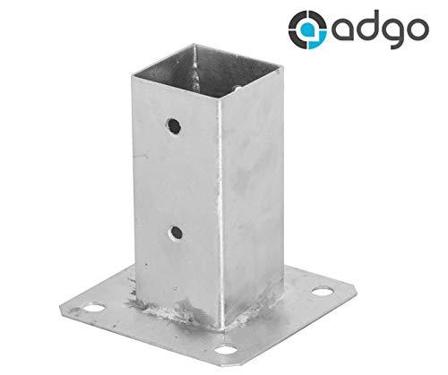 ADGO® - Soporte para poste de valla (70 x 70 mm, galvanizado)