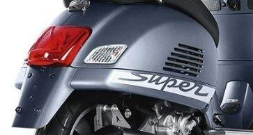 2X SUPER Vespa GTS Motorroller je 20cm Aufkleber,Roller, Motorroller,Scooter, Autoaufkleber,Wandtattoo,Sticker Profi-Qualität für Lack,Scheibe,etc.Waschanlagenfest
