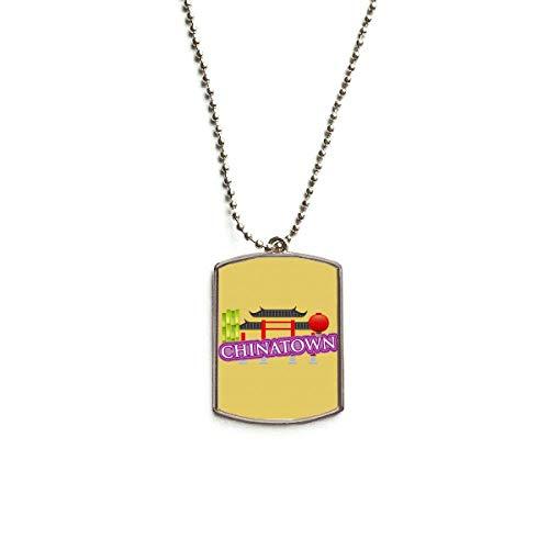 QQJSY Halskette mit Anhänger aus Bambus-Laterne, Edelstahl, Violett