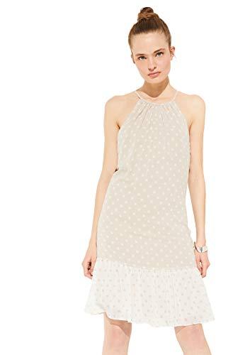 Comma 8E.095.82.5586 Kleid, Damen, Beige 38 EU