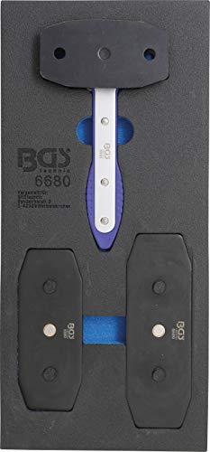 BGS 6680 | Werkstattwageneinlage 1/3: Bremskolben-Rückstell-Werkzeug | mit Ratschenfunktion | 7-tlg