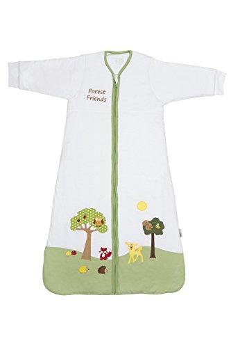 Schlummersack Kinderschlafsack mit Ärmeln für den Winter 3.5 Tog 130cm/3-6 Jahre - Waldtiere