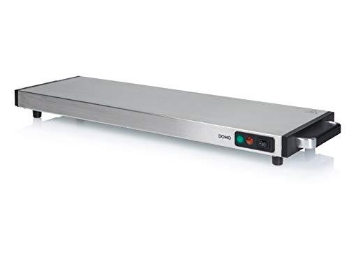 Elektrische Edelstahl Warmhalteplatte 60x20cm kabellos, 60Min. Warmhaltefunktion - 1200 Watt