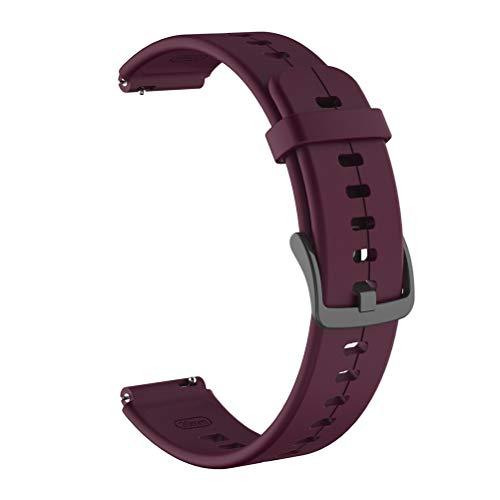 Enkomy Pulseras de Silicona, Correa de Reloj de Pulsera Deportiva de Silicona Ajustable de 16 mm para Huawei Talkband B6