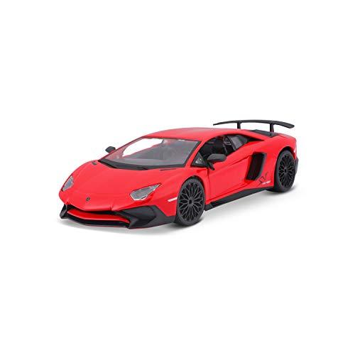 Bauer Spielwaren 18-21079 Lamborghini Aventador SV Coupe Modellauto im Maßstab 1:24, rot