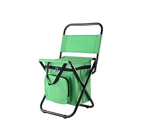 Silla de Camping Plegable Silla Mochila Ultraligera con Bolsa de Hierba Apta para Camping y Senderismo Carga máxima: 100 kg-Verde2 31.5x29x96cm