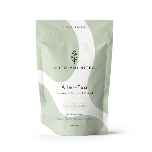 AIP Diet Herbal Tea - Allergy & Sinus Relief Tea for Seasonal Support, Autoimmune Protocol Compliant Foods, Whole 30, Paleo-friendly - Sinus Soother Loose Leaf Herbs with Nettle, Dandelion