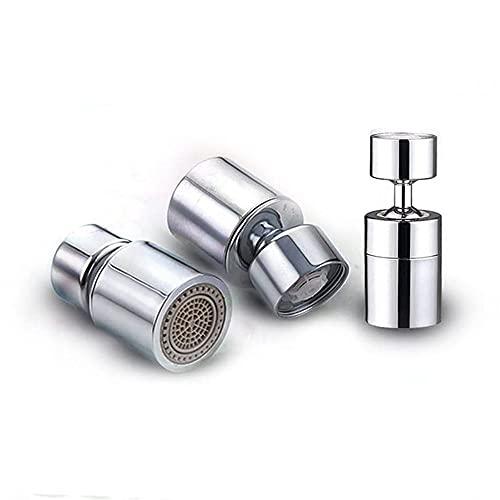 Aireador de Grifo con Rotación de 360º + 45º - Cabezal para Grifo de Cocina - Difusor de Agua para Grifos - Filtro de Agua para Grifo - Aireador Giratorio para Grifo - Adaptador para Grifo de Cocina