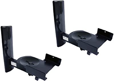 B-Tech BT77 Ultragrip Pro Speaker Mount, Set of 2, Side Clamp with Tilt and Swivel, Black from B-Tech