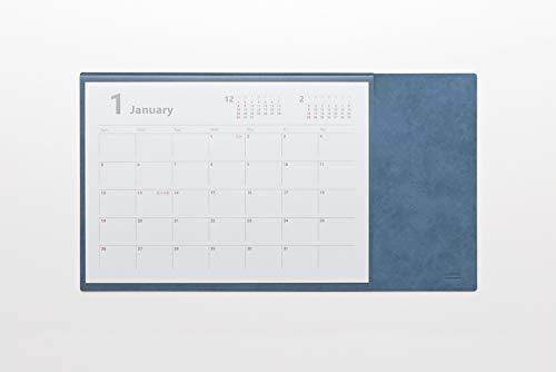 ミワックス デスクマット デスクカレンダー フリー シーガルブルー MX-CA-SBU