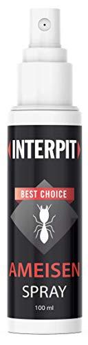 Interpit Ameisenabwehr Spray - gegen Ameisen für drinnen oder draußen, DAS Ungeziferspray frei von Gift, Schädlingsbekämpfung für Innen & Aussen - Schutz + Abwehr gegen die Ameise, Anti Insekten