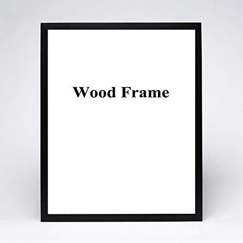 DIAZ Hardware inbegrepen houten frame A4 A3 zwart wit natuur solide eenvoudige foto fotolijst met matten voor wandmontage, zwart, 20x30cm