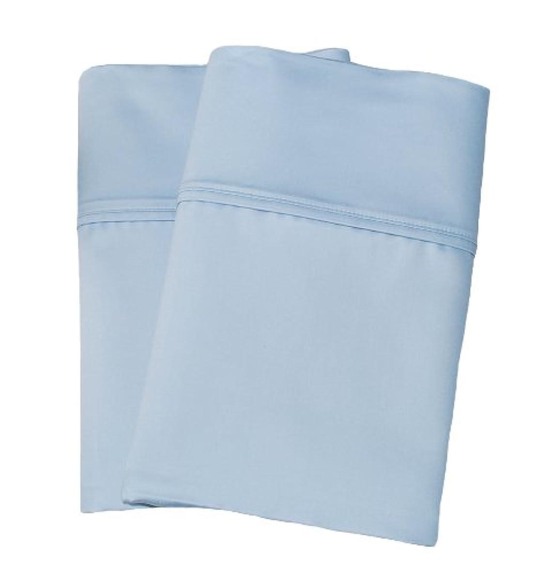 Cotton Blend 1000 Thread Count, Soft, Wrinkle Resistant, Standard 2-Piece Pillowcase Set Solid, Light Blue