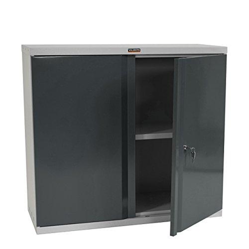 Valberg Aktenschrank T330, Metallschrank Büroschrank Stahlschrank, 2 Türen 84x92x37cm ~ anthrazit