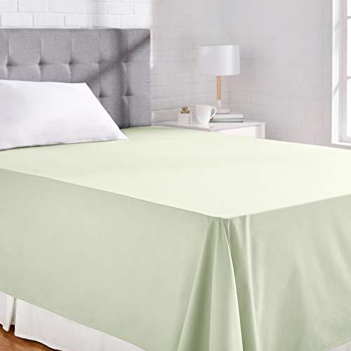 AmazonBasics - Lenzuolo 'Everyday' in 100% cotone, 275 x 275 cm - Verde