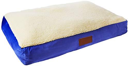 Ellie-Bo Hundebett aus Kunst-Wildleder und Schafsfell, zum Beispiel für den Hundekäfig oder die Hundebox, Größe M, 76,2 cm