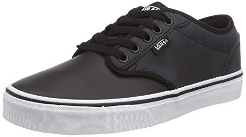 Vans Herren Atwood Synthetic Leather Sneaker, Schwarz ((Classic Tumble) Black/White U0m), 46 EU