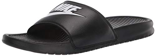 Nike Men's Benassi Just Do It Athletic Sandal, Black/White Noir/Blanc, 6.0 Regular US