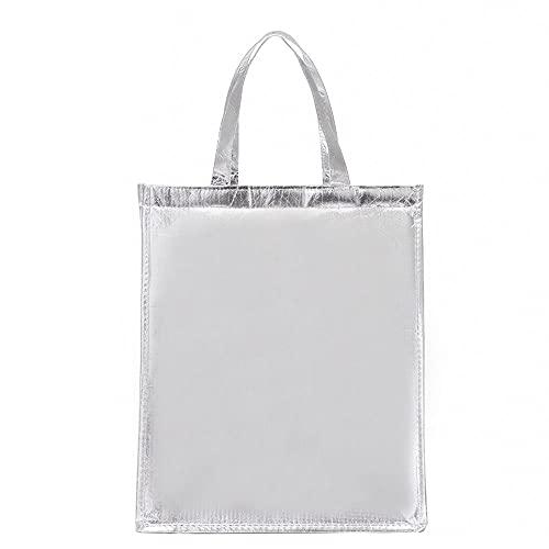 Qeujhkalwcb Bolsa Térmica, Bolso de aluminio de aluminio engrosado de gran capacidad, bolsa de almuerzo de excursión al aire libre, adecuado para mujeres, hombres, trabajos, Tamaño: 28 * 28 * 36 cm de