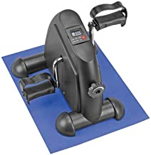 Sampri Mini Exercise Equipment Black Cycle for Seniors Bike Portable Home Pedal Exerciser Gym Fitness Leg Arm Cardio Training Adjustable Resistance LCD Display Women Men Seniors Old Age