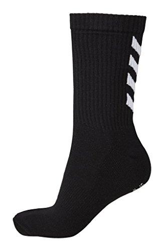 Hummel Socken 3er Set in Grau, Rot oder Blau - REFLECTOR FUNDAMENTAL 3-PACK SOCK - Strümpfe mit Unterstützung für Fußrücken - Sportsocken für Freizeit & Sport, black, 12 (41-45), 22-140-2001
