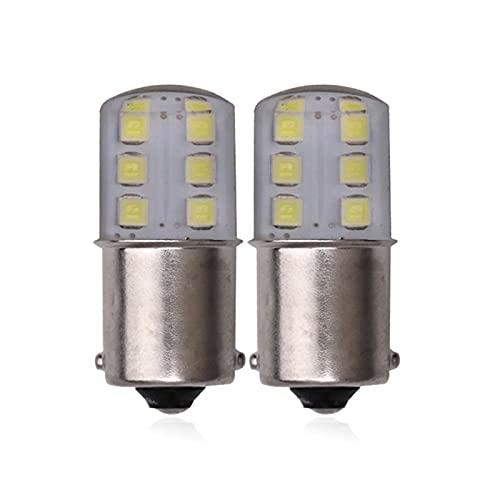 YZLP Lámpara 2 PCS/Lot P21W 1156 BA15S LED LED de señal de Giro 1157 BAY15D Bombilla LED para Frenos de automóvil Lámparas inversas 12V 7000K Rojo Amarillo Blanco