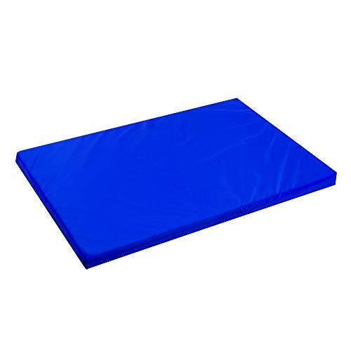 Alfombrilla impermeable para jaula de perro aprobada por FR para colchón resistente al agua, para exteriores, tamaño XL, 122 x 78 x 5 cm, color azul