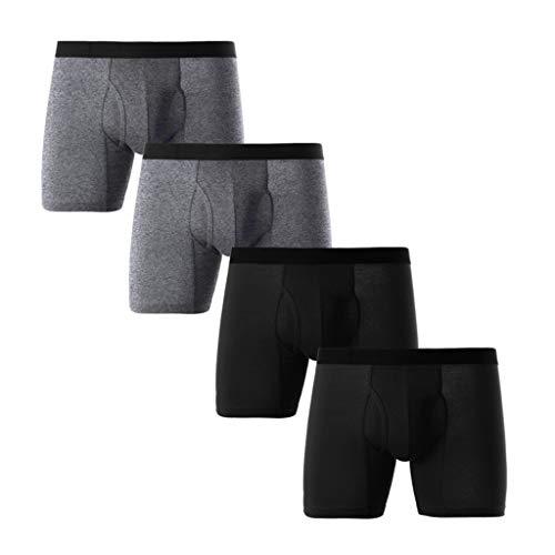ITISME Männer Unterhose Boxer, Einfarbig Comfy Hohe Taille Baumwolle Sportunterwäsche Klassisch Männer UnterwäscheSolideBoxerKurzKurze HoseAusbuchtungBeutelUnterhose Sale