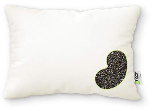 """Bean Products WheatDreamz 14"""" x 20"""" Japanese Pillow -Cotton Zippered Shell Filled with Organic Buckwheat - Made in USA"""