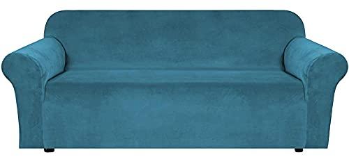 HXTSWGS Fundas de Sofa Cubierta de Sofa,Funda elástica para sofá, Funda de sofá de 1 Pieza, Protector de Muebles, Suave con Fondo elástico para niños, Perros, Apto para Sala de Estar-Blue_173-229CM