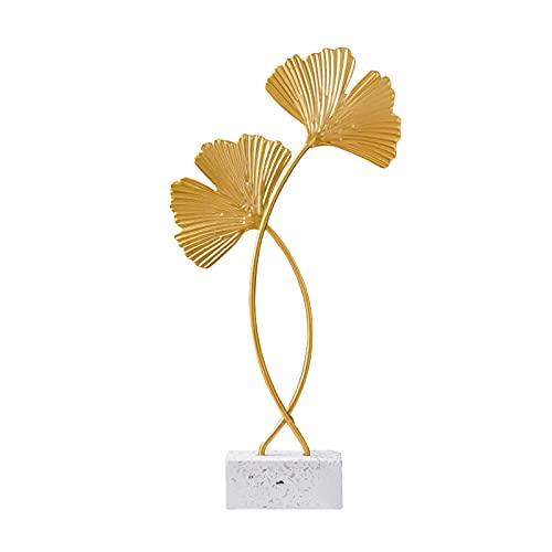 Foglia Scultura Ornamento Decorativo, otutun Ginkgo Foglie Decorative in Ferro Dorato, Ornamenti per...
