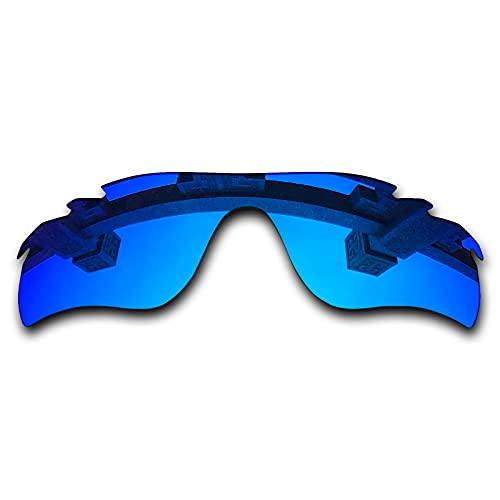 SYEMAX Lentes de repuesto para espejo polarizado, compatibles con Oakley RadarLock path ventilado (OO9181) Sunglass - Múltiples opciones, (Azul hielo no polarizado.), Talla única
