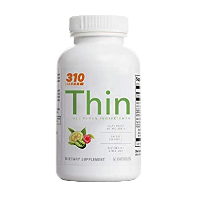 310 Thin Metabolism Booster with Garcinia Cambogia | Green Coffee and Ketones Extract | Vegan Ingredients | Boost Metabolism | Fight Hunger | Control Cravings | Enhance Energy (3.0)