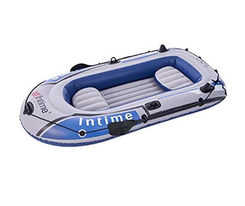 LJTT Barco de Pesca de Kayak Barco de Asalto 2 Persona Kayak Inflable Conjunto con paletas de Aluminio y Bomba de Aire de Alta Salida