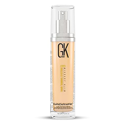 GK HAIR Global Keratin CurlsDefineHer (100 ml/ 3.4 fl. oz) | Activateur de boucles/crème hydratante, contrôle des frisottis pour cheveux naturels pour hommes et femmes