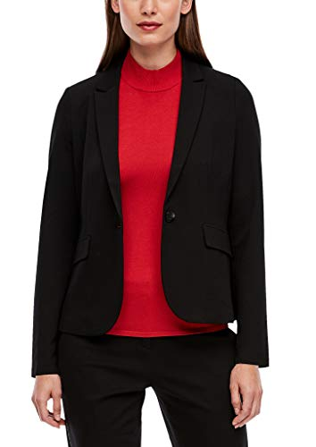 s.Oliver BLACK LABEL Damen 150.11.899.15.152.2041603 Lässiger Business-Blazer, True Black, 48