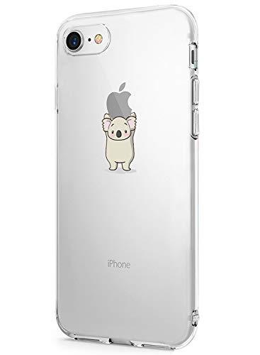 Caler Funda iPhone 7 iPhone 8 Case, Suave TPU Gel Silicona Ultra-Delgado Ligera Anti-rasguños Dibujos Protección Patrones Animal Lindo Carcasa para iPhone 7 iPhone 8 (Koala)